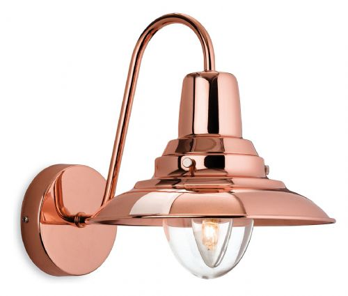 Firstlight 8686CP Copper with Clear Glass Fisherman Wall Light
